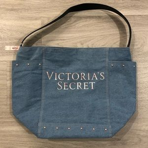 NWT Victoria's Secret Denim Tote Bag